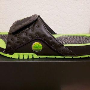 1b082c6327da3 Jordan Shoes - New Jordan Hydro XIII 13 Retro Altitude Green Blk